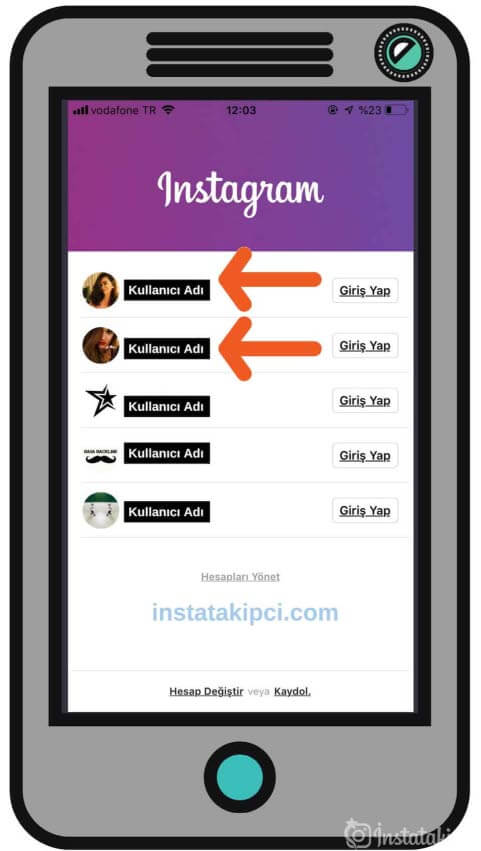 instagram çoklu hesap silme