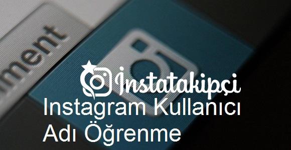 Instagram kullanıcı adı öğrenme