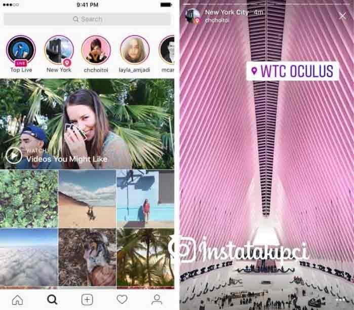 Instagram hikayeler etiket