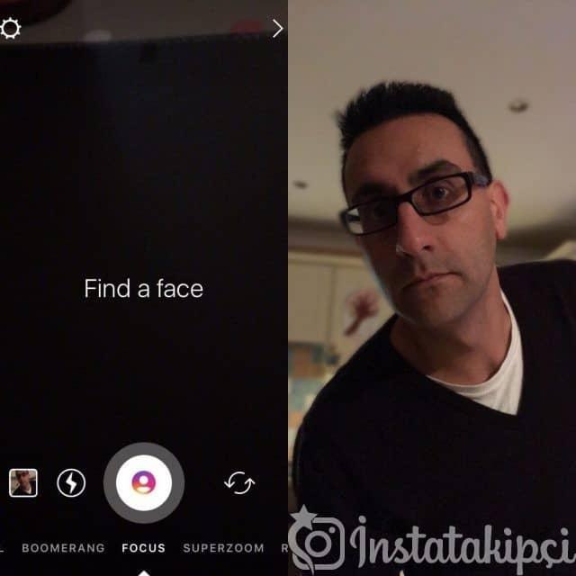 Instagram Odak modu