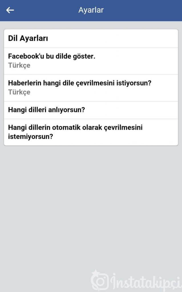 facebook turkce ayarlanmiyor sorunu ve cozumu 2019 cozuldu