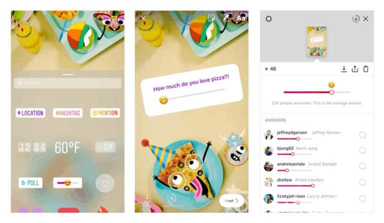 Instagram Hikayeler Anket Emoji Slider