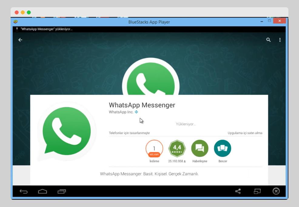 whatsapp web blue stacks