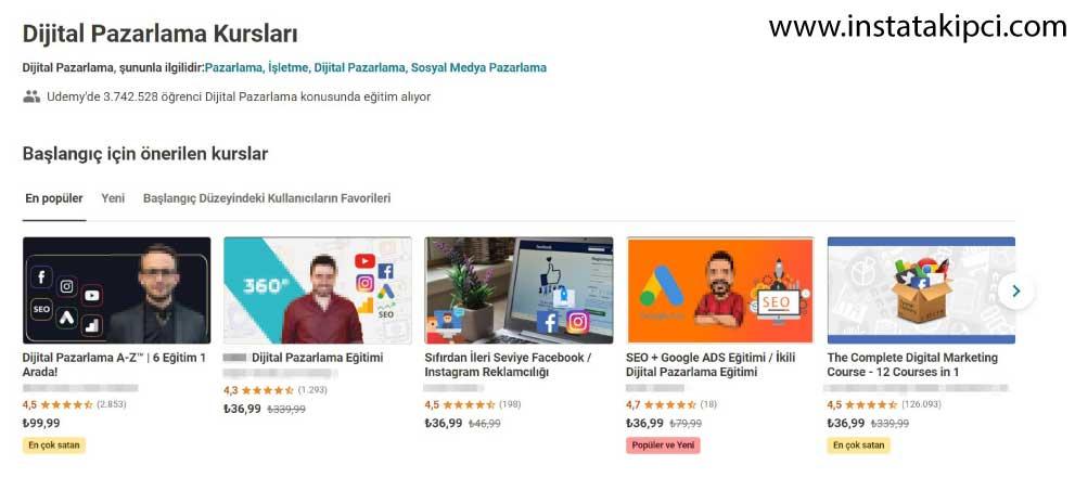dijital pazarlama kursları