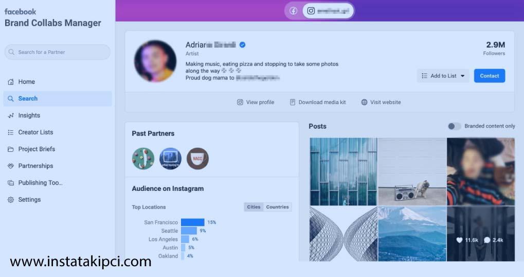 facebook collab kullanımı