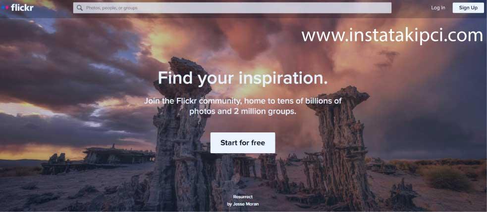 flickr kullanımı