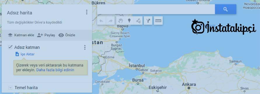 haritalara yer ekleme