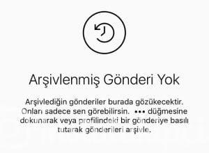 instagram arşiv gönderiler