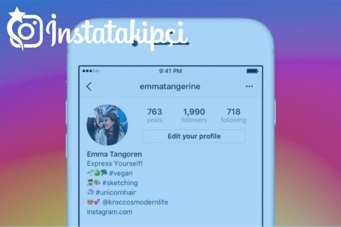 Instagram biyografi