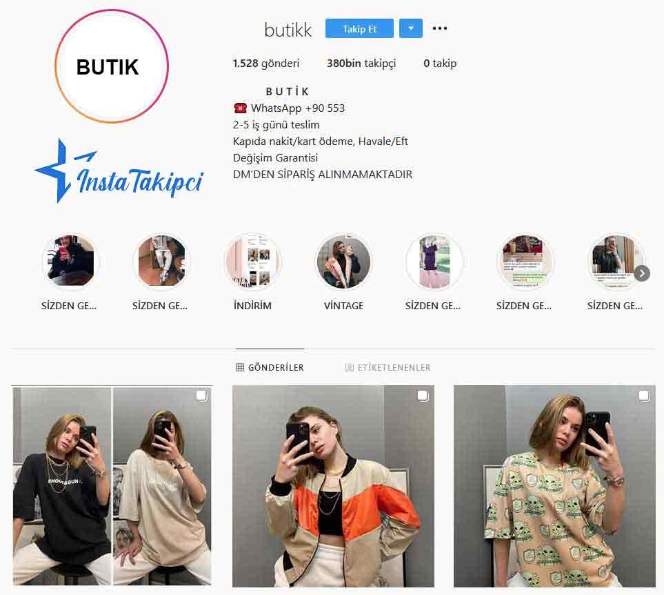 instagram butik