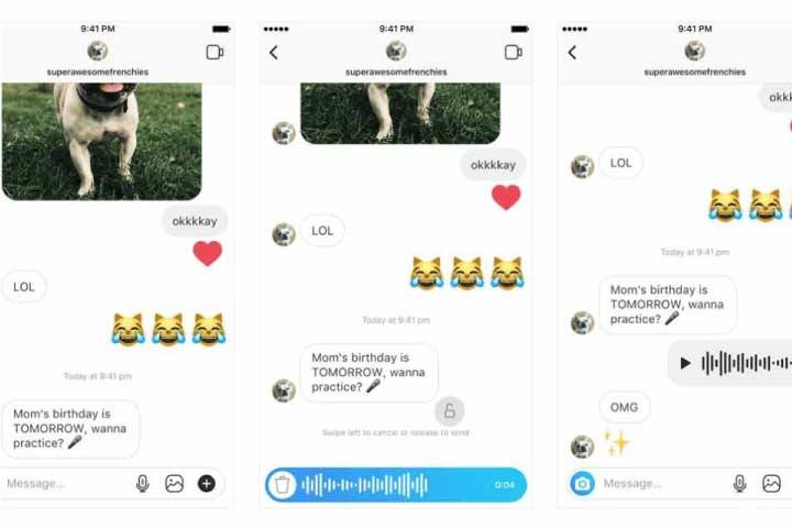 Instagram Direct Mesaj Üzerinden Ses Kaydı Gönderme