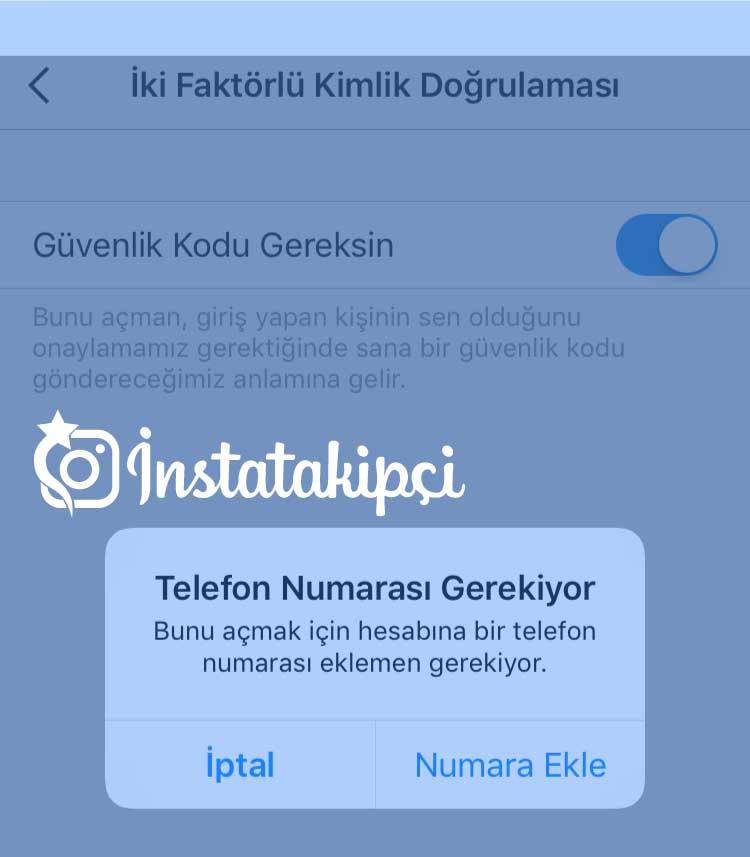 instagram güvenlik kodu gelmiyor