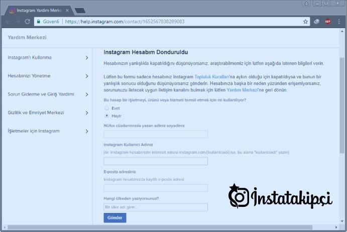 instagram hesabım kapatıldı