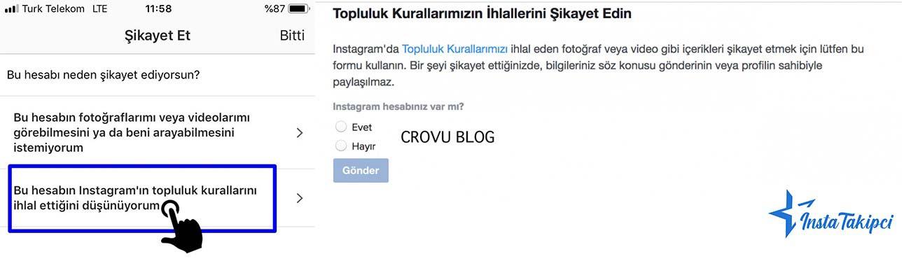 Instagram hesabını kaç Kişi spamlarsa hesabım kapatılır