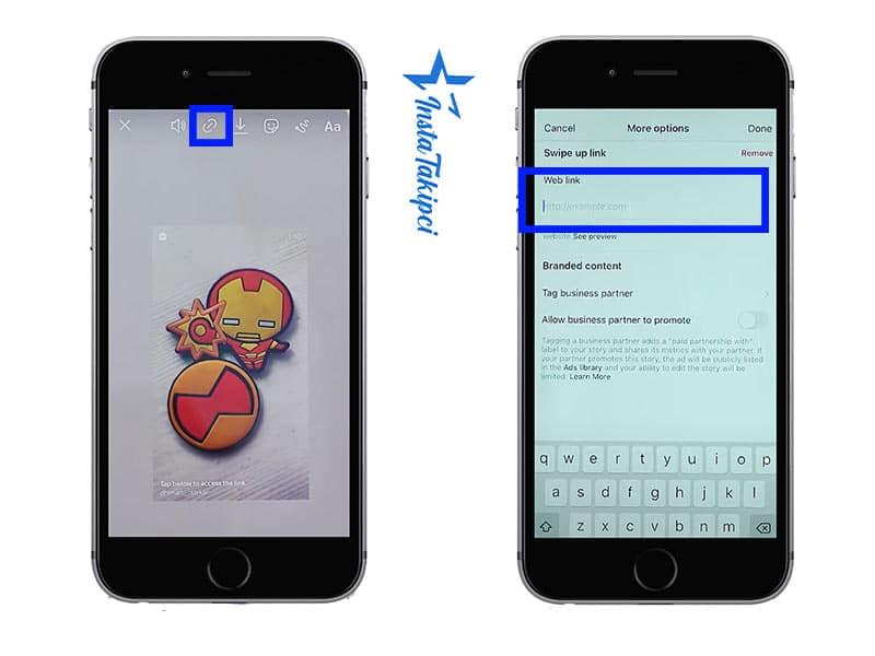 instagram hikayesine link ekleme işlemi adımları