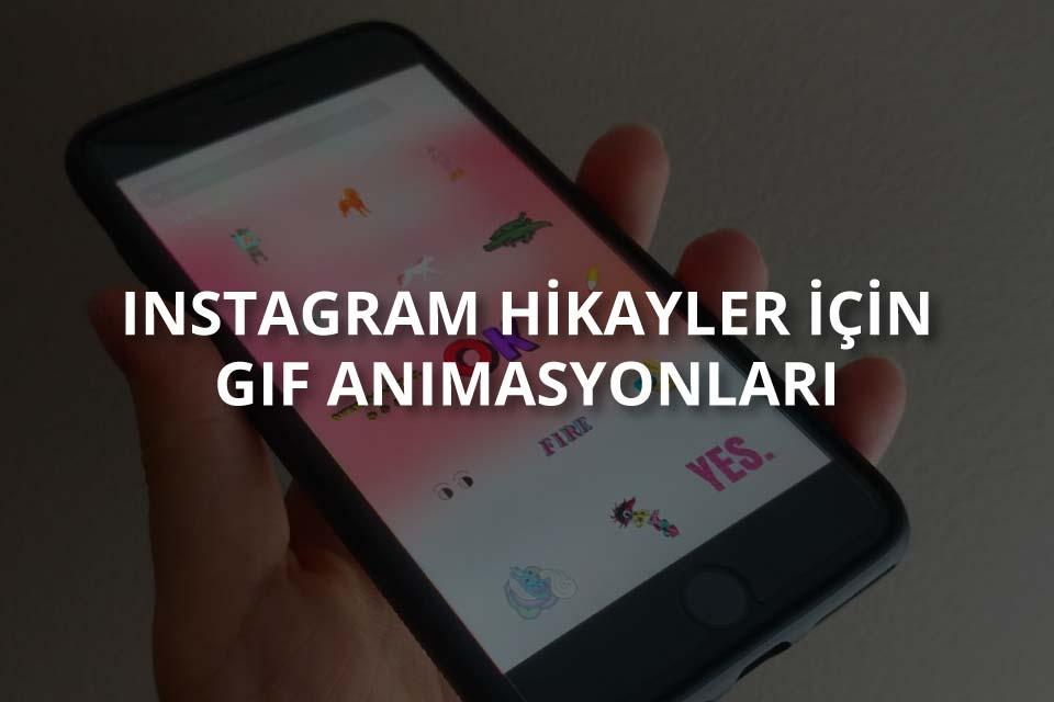 Instagram hikayeler için gif animasyonları