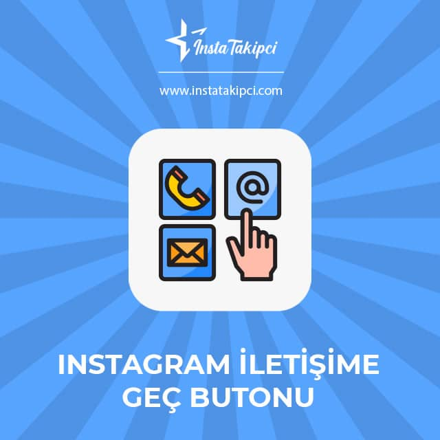 instagram iletişime geç butonu