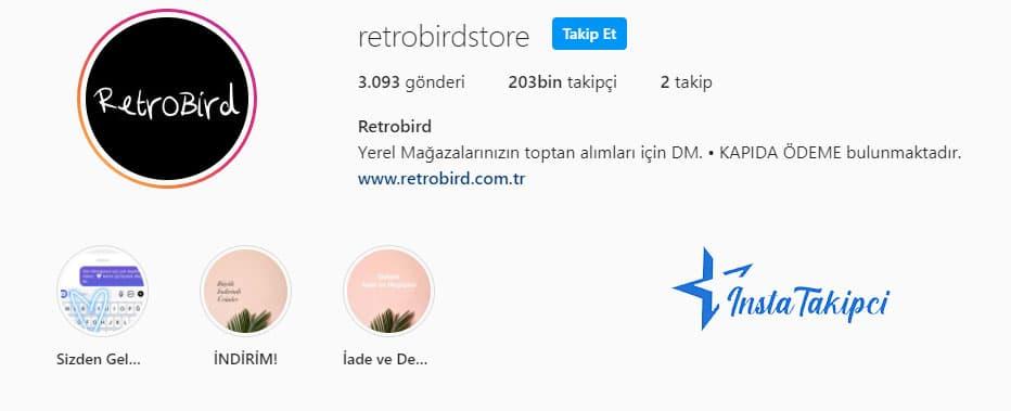 instagram butik retrobird