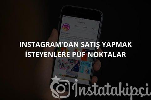 Instagram Satış Yapmak