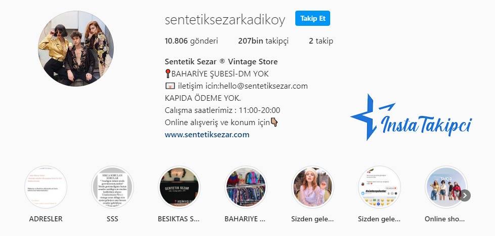 instagram butik sentetik sezar