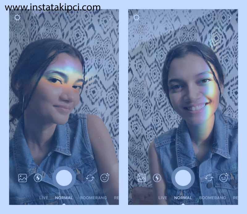 instagram yüz filtresi