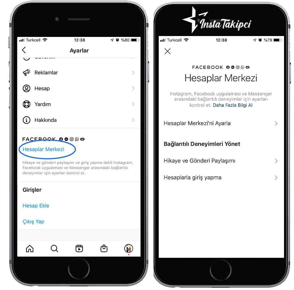 instagram bağlı hesapları kaldırma ios
