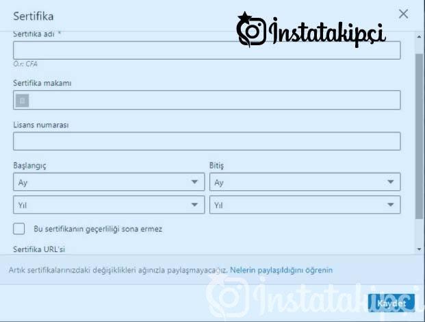 linkedin sertifika