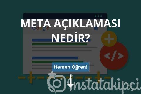 Meta Açıklaması Nedir?