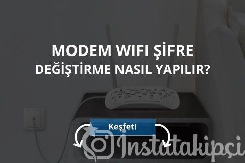 Modem Wifi Şifre Değiştirme