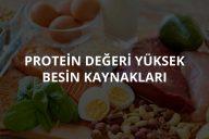 Protein Değeri Yüksek Besinler