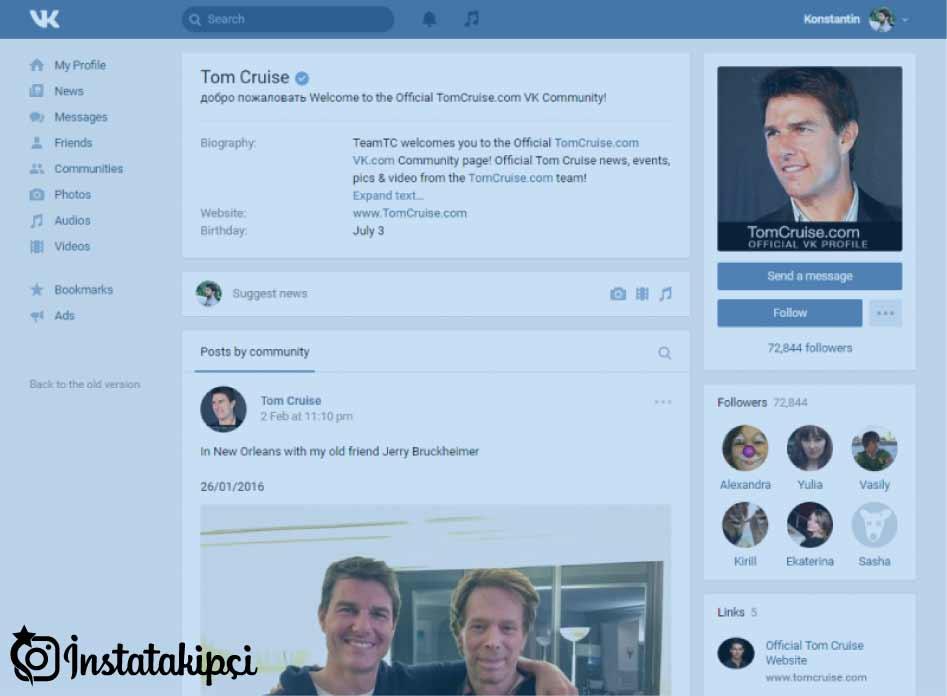 rus sosyal paylaşım siteleri