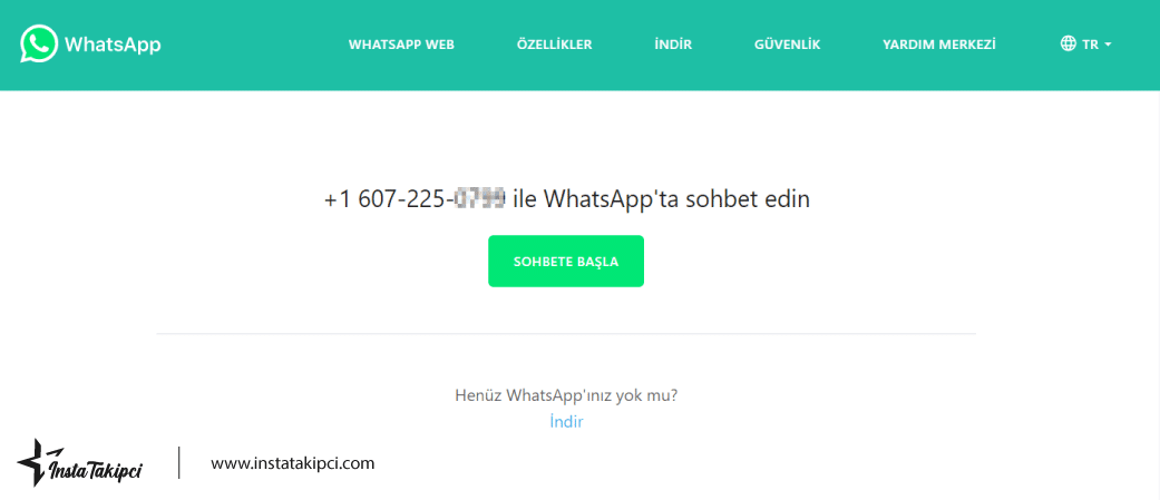 whatsapp link oluşturma