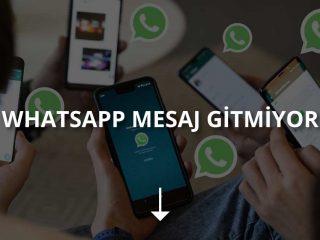 WhatsApp Mesaj Gitmiyor Sorunu