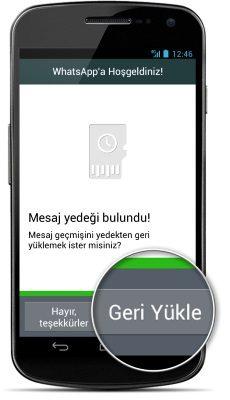 whatsapp silinen mesajlari geri yükleme nasıl yapılır