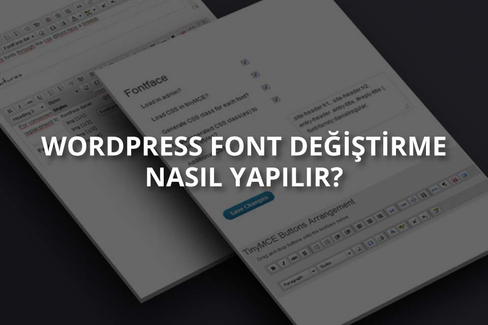 WordPress Font Değiştirme