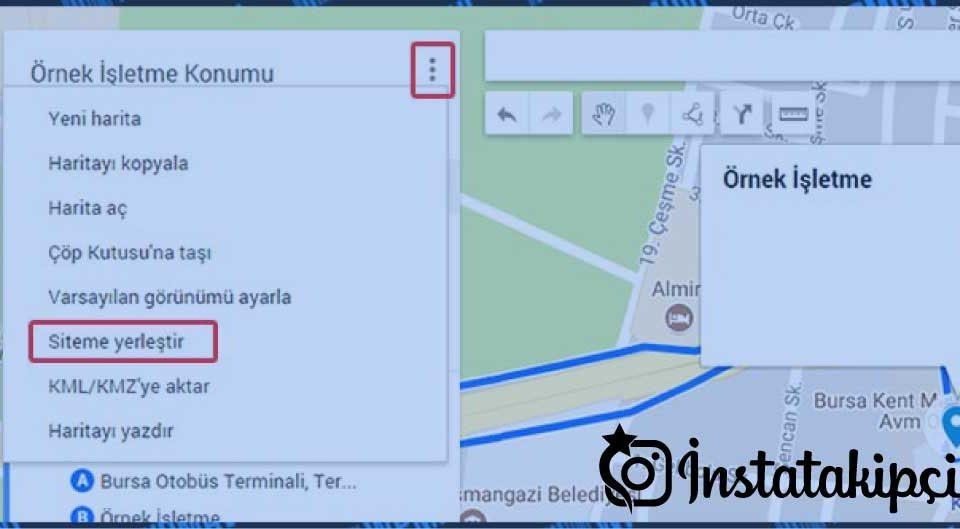 google maps ekleme