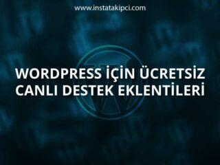 Ücretsiz WordPress Canlı Destek Eklentileri