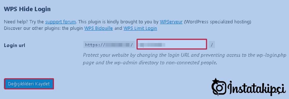 wp-admin değiştirme