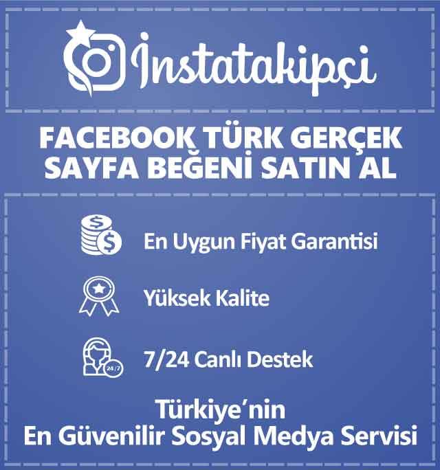 Facebook Türk Gerçek Sayfa Beğeni Satın Al