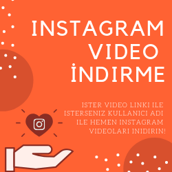 Instagram Video İndir Online Programsız