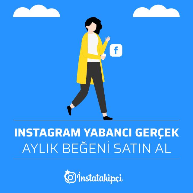 Instagram Yabancı Gerçek Aylık Beğeni Satın Al