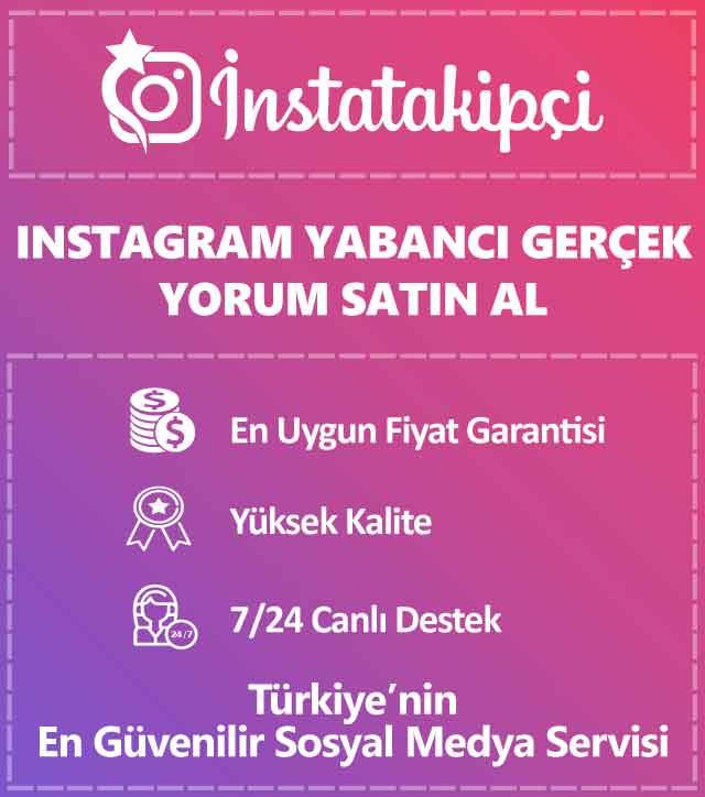 Instagram Yabancı Gerçek Yorum Satın Al