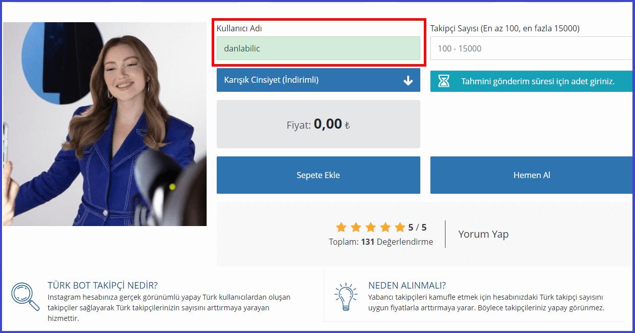 kullanıcı adınızı girmelisiniz