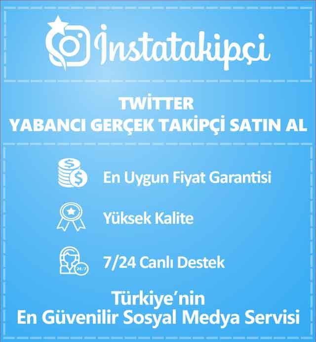 Twitter Yabancı Gerçek Takipçi Satın Al