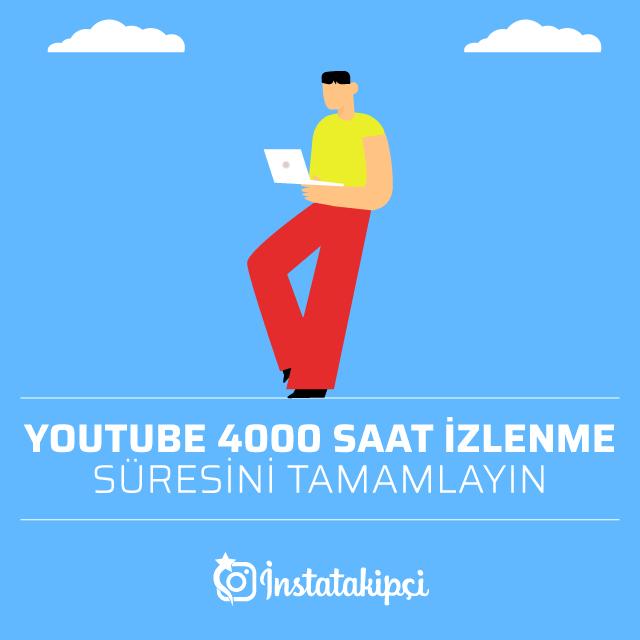 youtube 4000 saat izlenme süresini tamamlayın